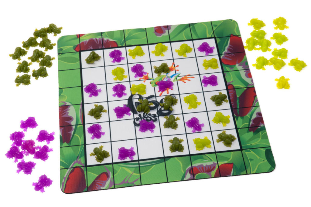 Frog Chess can be played with 3 players.